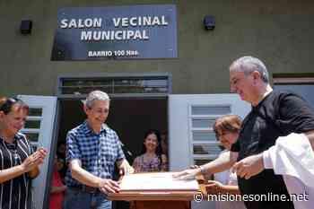 Passalacqua inauguró el Mercado Concentrador Zonal en Obera y el Sum en el barrio Cien Hectáreas - MisionesOnline - Misiones OnLine