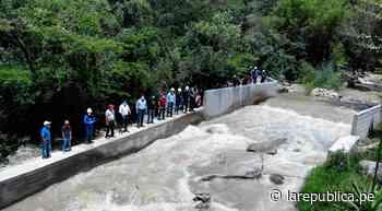 Cajamarca: inauguran bocatoma y canal de riego en Cajabamba LRND - LaRepública.pe