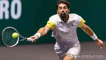 Jeremy Chardy Beats David Goffin To Reach Rotterdam Quarter-finals - 2021 ABN AMRO World Tennis Tournament Match Report - ATP Tour