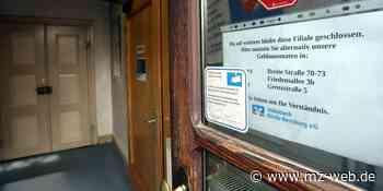 SB-Filiale Volksbank Börde-Bernburg in Nienburg Saale bleibt geschlossen: Folge von gescheitertem Aufbruch durch Kriminelle - Mitteldeutsche Zeitung