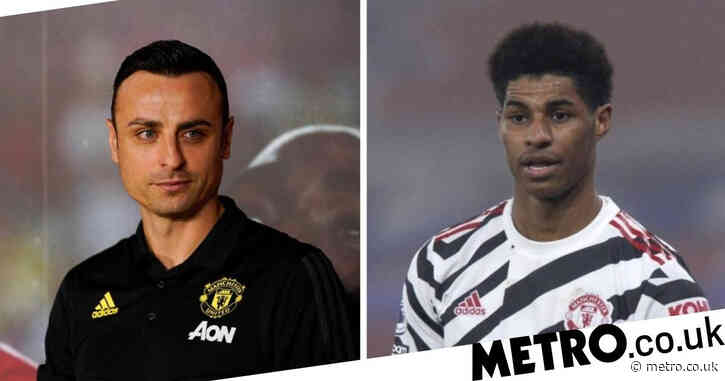 Dimitar Berbatov explains why he 'liked' Marcus Rashford's row with Manchester United teammate Harry Maguire