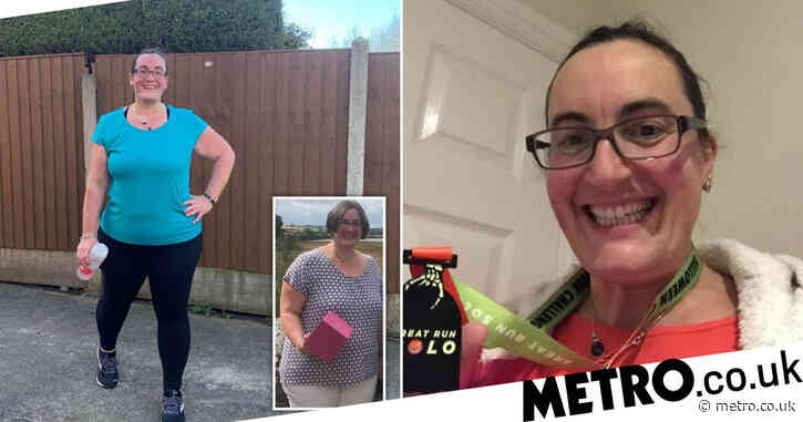 Mum who ate chocolate every day loses four stone and is now running a half marathon