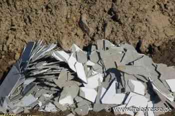 Asbestschiefer in Olbernhau entsorgt - Freie Presse
