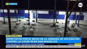 Expectativa por inicio de vacunación de adultos mayores en San Miguelito - TVN Panamá