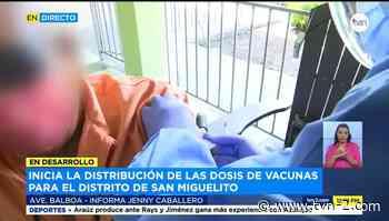Inicia distribución de vacunas para el distrito de San Miguelito - TVN Panamá