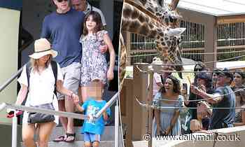 Matt Damon on a trip to Sydney's Taronga Zoo with wife Luciana and their children