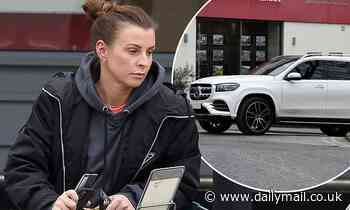 Coleen Rooney takes her new £97K Mercedes for a spin