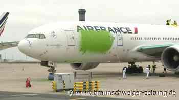 Greenpeace streicht Air-France-Maschine grün an