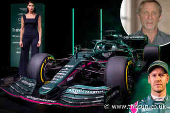 James Bond stars Daniel Craig and Gemma Arterton reveal first Aston Martin F1 car in 61 years - The Sun