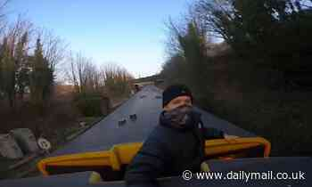 Train surfer films himself on the roof of a Merseyrail service