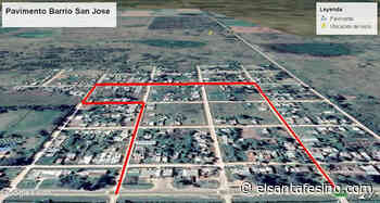 En San Cristóbal anunciaron la pavimentación de 12 nuevas cuadras en el barrio San José – El Santafesino - El Santafesino
