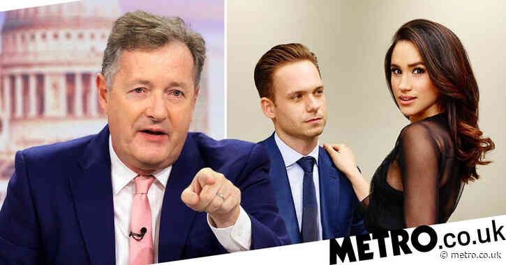 Piers Morgan brands Patrick J Adams 'jumped-up twerp' as Suits star defends Meghan Markle