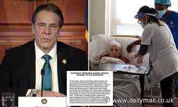 Cuomo DENIES his aides altered nursing home death data as lawmakers strip his emergency powers