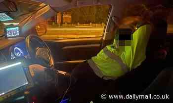 Controversial photo of mobile speed camera contractor 'asleep' while on the job sparks debate