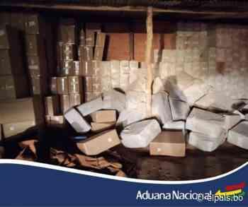 Aduana de Tarija comisa más de 1.300 jabas de cigarrillos valorada en Bs 1.100.000 - El País