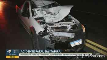Acidente entre moto e picape mata motociclista em rodovia de Itapira - G1
