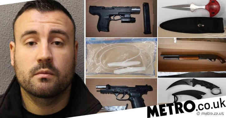 Gun dealer who stashed weapons in three-year-old daughter's bedroom is jailed