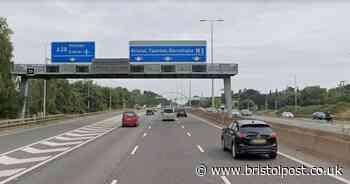 M5 lane closed following two-vehicle crash