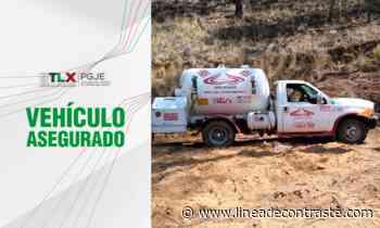 Asegura PGJE pipa de gas abandonada en terrenos de labor en Calpulalpan - Linea de Contraste