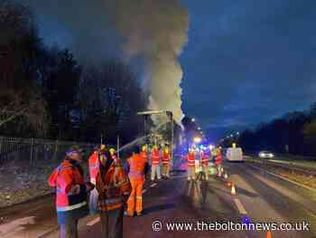 Recap: Huge Bolton lorry fire that brought roads to a standstill
