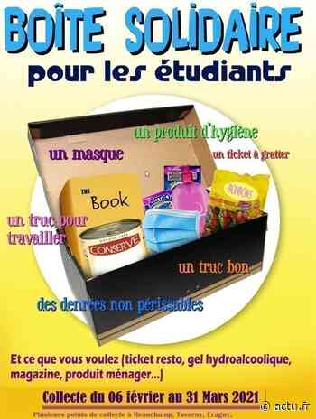 Val-d'Oise. Taverny-Beauchamp-Saint-Leu-Eaubonne : des boîtes solidaires avec les étudiants de Cergy - actu.fr