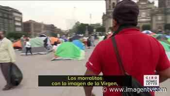 FRENAAA instalan capilla a la Virgen de Guadalupe en Zócalo Imagen Televisión - Imagen Televisión
