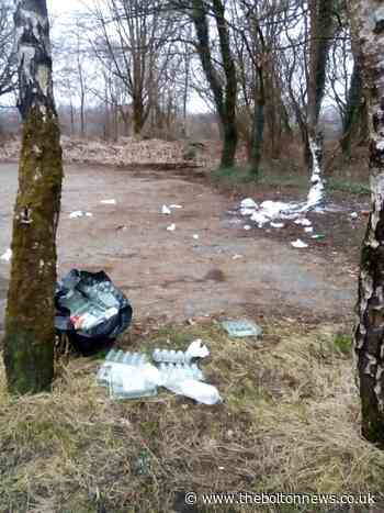 Rubbish dumped in popular Bolton country park's car park