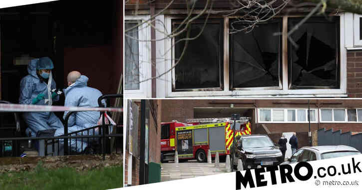 Child dies after fire rips through flat in south London