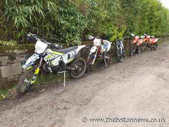 Police seize 5 off-road bikes today in crackdown