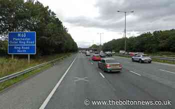Lane of M60 near Kearsley closed due to lorry fire