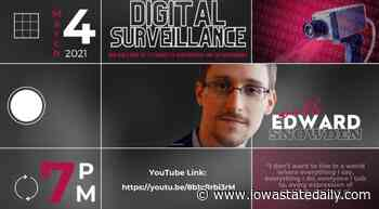 Edward Snowden lectures on digital surveillance and Gen Z to Iowa State students - Iowa State Daily