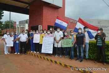 En hospital de Santa Rosa del Aguaray trabajadores también se movilizan - Nacionales - ABC Color