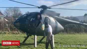 Covid: Helicopter flew from Salford to Preston for sandwich