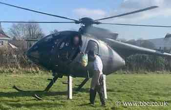 Covid: Pilot takes helicopter to pick up beef sandwich from farm shop