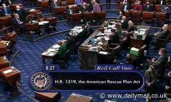 Senate PASSES Biden's $1.9trillion COVID bill with no support from Republicans