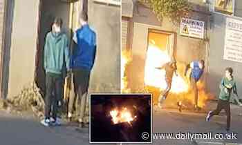 Moment three arsonists set off gas explosion that gutted warehouse causing damage worth £73,000