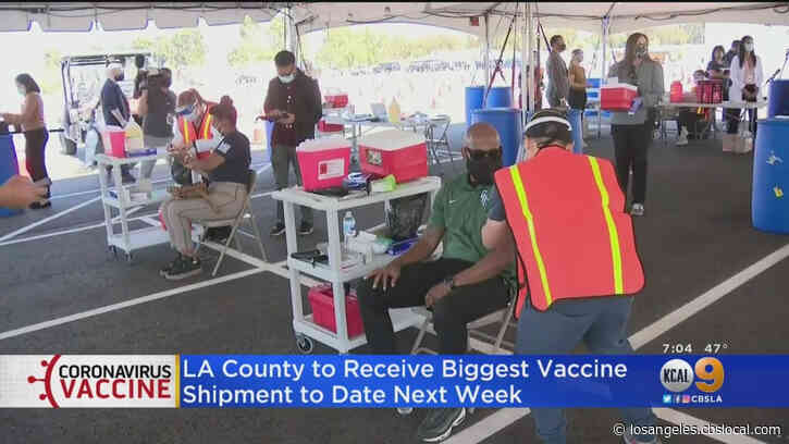 Educators Receive COVID-19 Vaccines At Duarte Clinic As LA County Ramps Up Administration Efforts