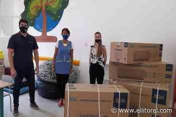 Entregan equipamiento a instituciones educativas de San Carlos Sud - El Litoral
