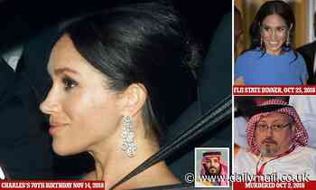 Meghan's 'blood money' earrings: Saudi victim Khashoggi's lawyer condemns Duchess for wearing gift