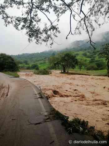 Estragos por desbordamiento del río Timaná - Diario del Huila