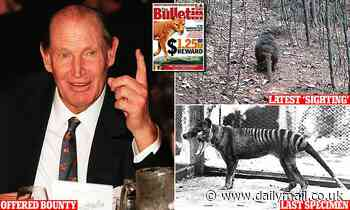 Kerry Packer offered $1.25million for the capture of a Tasmanian tiger