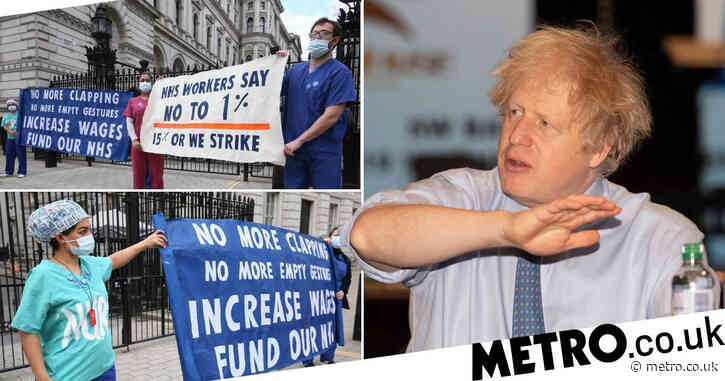 Boris says 1% NHS pay rise is 'as much as we can' in tough times