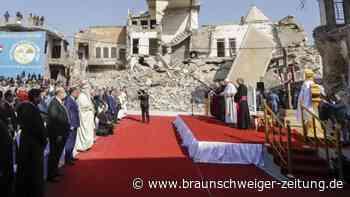 Viertägige Reise: Papst betet im Nordirak für Opfer der Terrormiliz IS