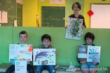Kinderen fleuren senioren op met kunstwerkjes