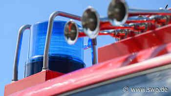 Feuerwehr Aichtal-Grötzingen: Stromverteilerkastens brennt im Schützenhaus - SWP