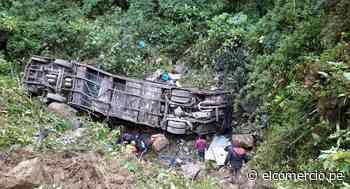 Accidente de un autobús deja al menos 20 muertos y 13 heridos en Bolivia - El Comercio Perú