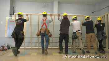 Carpentry students get hands-on experience at Montreal-area electrical school - CTV News Montreal