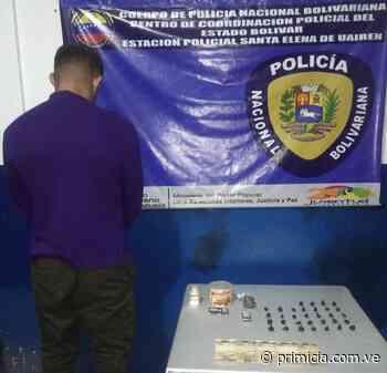 Capturan a sujeto por posesión de droga en Santa Elena de Uairén - primicia.com.ve