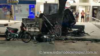 Rio Cuarto: Tres jóvenes heridos tras un tremendo vuelco - El Diario de Carlos Paz