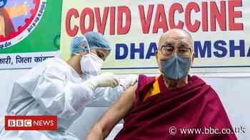 Covid: Dalai Lama urges others to get vaccinated as he receives first shot